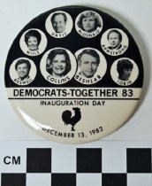 Image of KY Democrats 1983 inauguration button - Button, Political
