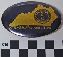 Image of 1984.49.29 - Oval Gov. Martha Layne Collins political button