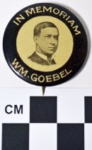 Image of William Goebel memorial photo button