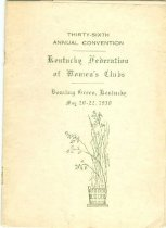 Image of Thirty-sixth annual convention : Kentucky Federation of Women's Club [program] - Knott Countians for Brown - Ford