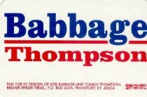 Image of Babbage / Thompson [political sticker] -