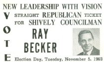 Image of Vote Ray Becker for Shively Councilman [political card] -