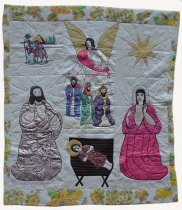 Image of KM2015.29.2 - Jesus in the Manger Quilt