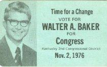 Image of Walter A. Baker for Congress [political card] -