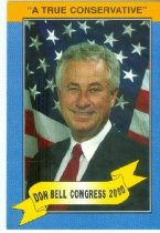 Image of Don Bell, Congress 2000 [political card] - Committe for Walter Baker