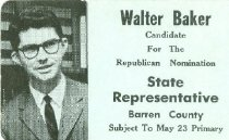 Image of Walter Baker [political card] -