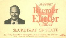 Image of Bremer Ehrler for Secretary of State [political card] -