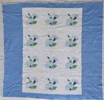 Image of Morning Glory Quilt - Quilt, Bed