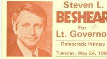 Image of Steve Beshear for Governor [political card] - Committe for Walter Baker