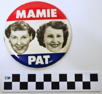Image of Mamie Eisenhower/Pat Nixon political button