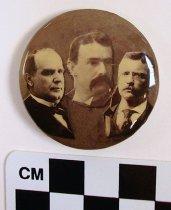 Image of McKinley, Yerkes, Roosevelt political button - Button, Political