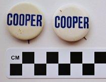 Image of 2001.17.8 - John Sherman Cooper political button