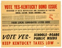Image of Vote Yes- Kentucky Bond Issue  -