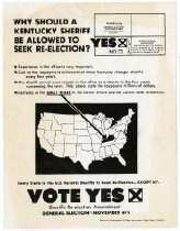 Image of Vote Yes- Sheriffs Re-Election Amendment  -