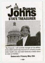 Image of Elect Susan Johns State Treasurer  - Committe for Walter Baker