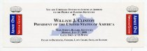 Image of Address to the people of Easter Kentucky by William J. Clinton  - Committe for Walter Baker