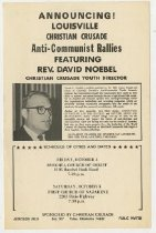 Image of Louisville Christian Crusade Anti-Communist Rallies  - Committe for Walter Baker