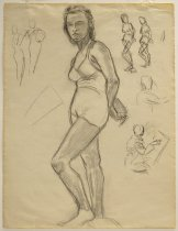 Image of 2002.44.16 - Female Nude Sketch