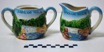 Image of Cumberland Falls sugar bowl and creamer            - Bowl, Sugar
