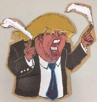 Image of Donald Trump with guns smoking [political poster] -