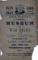 Image of John Berry's Free Museum of War Relics and Other Curiosities -
