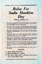 Image of Sadie Hawkins Day  -