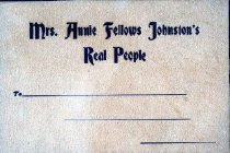 Image of Annie Fellows Johnston's Real People  -