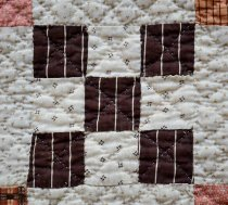 Image of Nine Patch Irish Chain Quilt (detail)