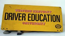 Image of 2008.51.1 - Western Kentucky University Driver Education sign