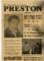 Image of Preston the Magician and Hypnotist. -