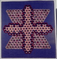 Image of Tumbling Blocks (Cross Variation) Quilt