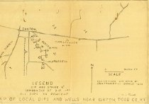 Image of Map of Local Dips and Wells Near Elkton, Todd County, KY -
