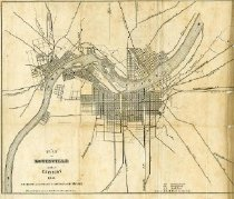 Image of Map of a Plan of Louisville and its Environs -