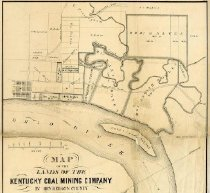 Image of Map of the Lands of the Kentucky Coal Mining Company  -
