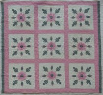 Image of KM2017.30.2 - Whig Rose Quilt