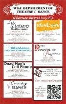 Image of Mainstage Theatre 2012-2013 - Theatre & Dance (WKU)