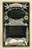 Image of William Henry Maycock memorial card