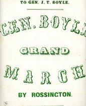 Image of Gen. Boyle's grand march - Rossington