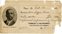 Image of Tinsley and Hathaway, Funeral Directors and Embalmers [receipt] - Potter, Matlock Trust Co., Bowling Green, KY