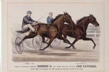 Image of Pacing King Robert J. in his Race with Joe Patchen, The