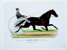 Image of Lenore B. and Sidney A. Alpert Currier & Ives Collection - Trotting Stallion Santa Claus, by Strathmore