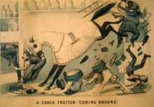 """Image of Lenore B. and Sidney A. Alpert Currier & Ives Collection - Crack Trotter, A ----""""Coming Around"""""""