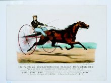 Image of Lenore B. and Sidney A. Alpert Currier & Ives Collection - Peerless Goldsmith Maid, Driven by Budd Doble, The