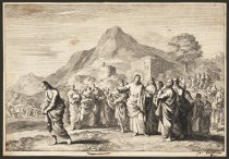 Image of [Christ and the woman taken in adultery] - Luyken, Jan (Johannes), 1649-1712