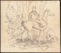 Image of [fox hunting sequence sketches] - Browne, Hablot Knight (Phiz), 1815-1882