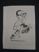 Image of [Arthur William Brown playing baseball] - Mullin, Willard, 1902-1978