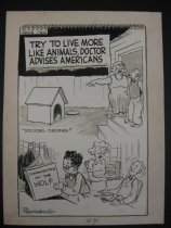 Image of News item. Try to live more like animals, doctor advises Americans - Sandeson, William S., 1913-2003