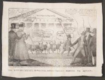 Image of The Kitchen Cabinet, or Political Money Changers Moving the Deposits - Evans, C.H., fl. 1800s