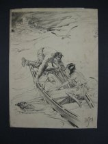Image of [Couple in a rowing boat rescuing drowning man] - Smith, Ivan