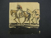 Image of [Man on a horse, cowboy?] - Hall, Wayne